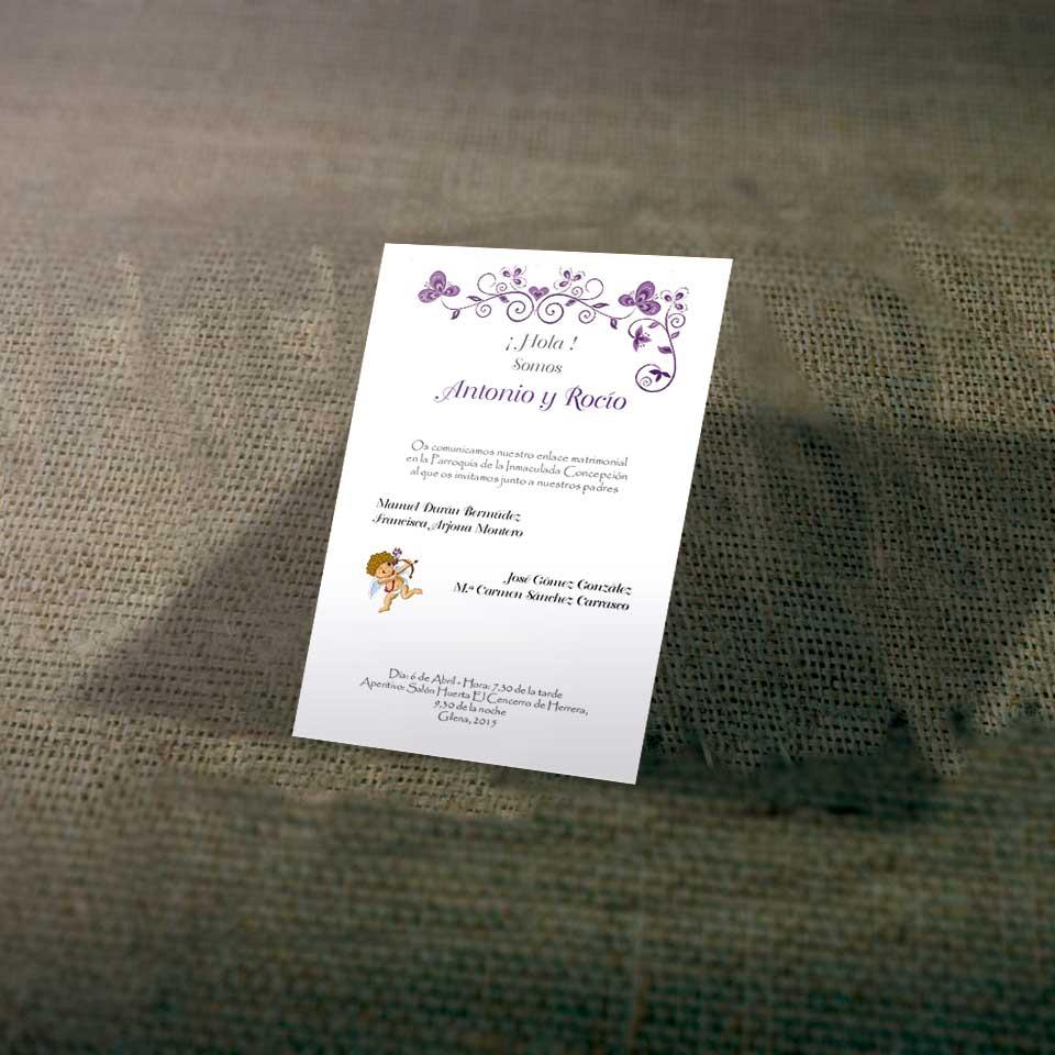 Tarjetas de Invitaciones para Bodas