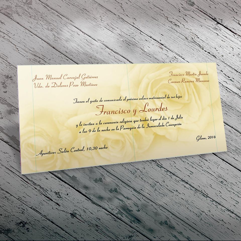 Invitación de Boda Divertida